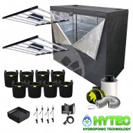2 X OMEGA LUNA 630W LED COMPLETE GROW TENT KIT