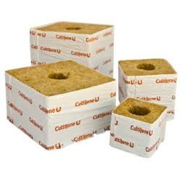 "Rockwool 3"" cube small hole"