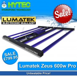 LUMATEK ZEUS 600W PRO LED GROW LIGHT - ON SALE SAVE £50!!! Was £849.95 - Now Only £799.95  Unbeatable Price!  Introducing Lumatek full-spectrum PRO LED. The Zeus is a professional multi-LED-bar linear fixture ideal as sole-source lighting for indoor, grow tent and vertical farming with a uniform spread of light at a short distance and even heat dissipation.  ▪️EFFICACY 2.7umol/J ▪️PPF 1620umol/s ▪️INPUT VOLTAGE 200-240v ▪️POWER CONSUMPTION 600w ▪️FOOTPRINT 1.5mtr x 1.5mtr ▪️WATERPROOF IP65 ▪️LIFETIME 60 000hrs ▪️LIGHT DISTRIBUTION 120' ▪️LIGHT SOURCE Osram & Lumled Diodes ▪️SPECTRUM Full Spectrum ▪️DIMMABLE OFF-25%-50%-75%-100% (with 0-10v Light Dimmer Included) ▪️REPLACEABLE 100w Magnet Light Bars ▪️EXTERNALLY CONTROLLABLE with Lumatek Digital Panel  #hytechydroponics #lumatek #sheffield #ukhydro #uk420 #ledgrowlights #growlights #growyourown #ukhydrostore #chesterfield #zeus