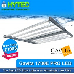 The Best LED Grow Light has just got better!!! 💯 For those who have sat on the shelf waiting for Gavitas 1700E Pro Grow Light to drop in price, well your time has come -  🤑 PRICE REDUCED - WAS £1499.00 - NOW ONLY £1095.00 - SAVE £404.00 💯 GAVITA PRO 1700e LED GROW LIGHT 💯 The Gavita Pro 1700e LED grow light can be used in commercial grows (horizontal and vertical), greenhouses, home grows (rooms and tents) or in climate rooms. The thin 2.3
