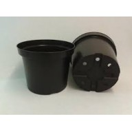 Black Round Pot 12 Litre