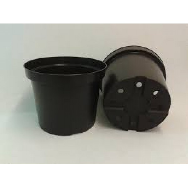 Black Round Pot 5 Litre