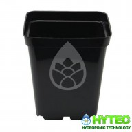 Black Square Pot 0.7 Litre 10cm